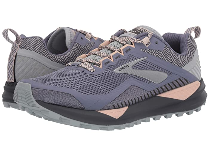 Brooks Cascadia 14 (Grey/Pale Peach/Pearl) Women's Running Shoes
