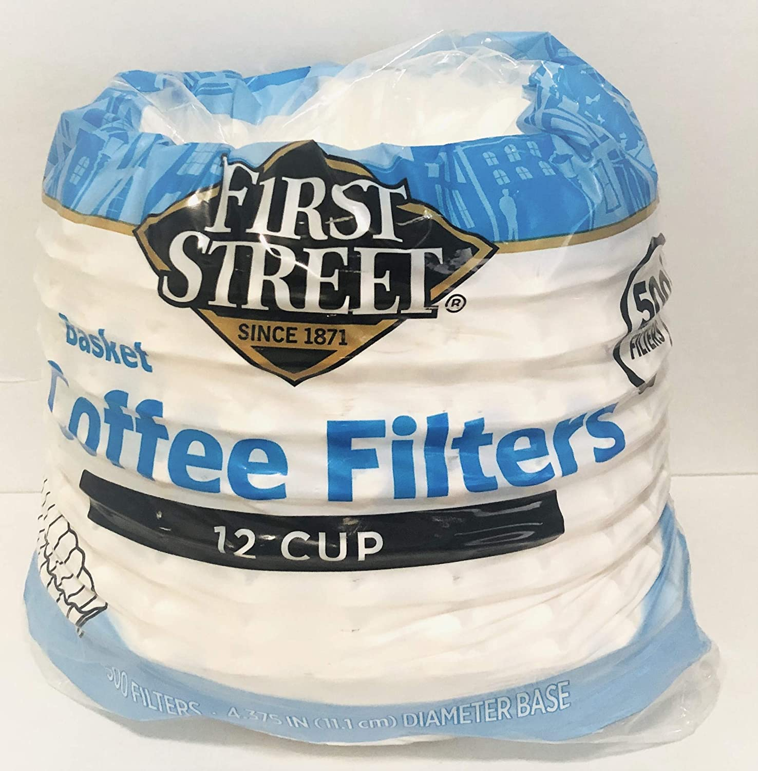 First Street Basket Coffee Free shipping Filter 12 Filters Deluxe 500 Cup