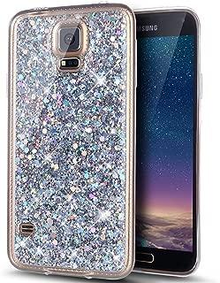Cover Galaxy S4 Mini Custodia,ikasus luminoso nottilucenti Colorato dipinta fiore Cover Custodia Gel Trasparente Morbida Silicone Sottile TPU Case Cover per Galaxy S4 Mini,Farfalla piuma Campanula