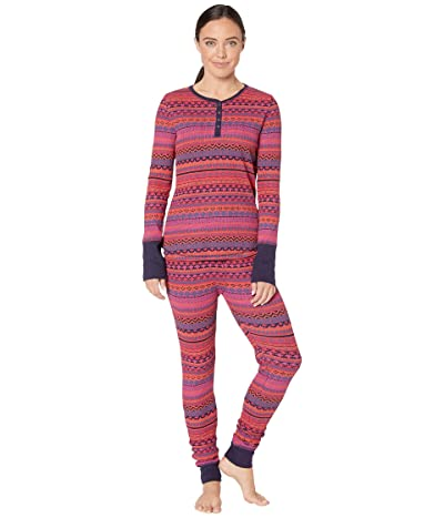 Splendid Cozy Thermal PJ Set (Le Rouge Fair Isle) Women