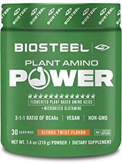 BioSteel Plant Amino Power BCAA+ - Sugar Free Branched Chain Amino Acid Powder, Preservative Free, Supports Muscle Repair,...