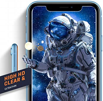 Mkeke Compatible with iPhone XR Screen Protector, iPhone 11 Screen Protector,Tempered Glass Film for Apple iPhone XR ...