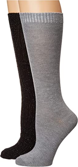 2-Pack Lurex Slouchy Boot Socks