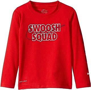 Nike Kids Boy's Dri-FIT Logo Graphic Long Sleeve T-Shirt (Little Kids) University Red 7 Little Kids