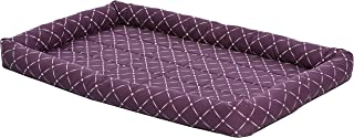 MidWest Homes for Pets 40248-PLD Quiet Time Couture Ashton Bolster Pet Bed, X-Large Dog/48, Plum