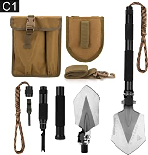 FiveJoy Military Folding Shovel Multitool (C1) – Portable Foldable Survival Tool..