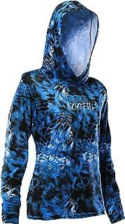 KOOFIN GEAR Performance Fishing Hoodie Women's Long Sleeve Hooded Sunshirt Quick-Dry UPF50