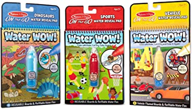 Melissa & Doug On The Go Water Wow! 3-Pack (Sports, Dinosaurs, Vehicles)