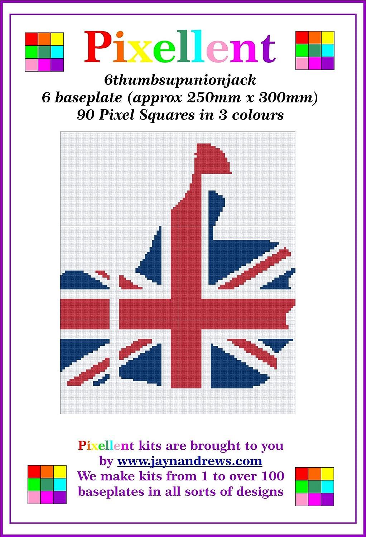 PIXELLENT 6 baseplate kit Thumbs Up Union Jack