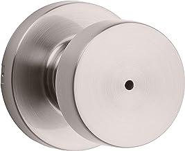 Kwikset 97300-933 Puxador de porta, redondo, níquel acetinado