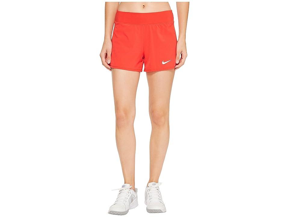 Nike Nike Court Flex Pure Tennis Short (Action Red/White) Women