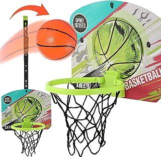 Mini Basketball Hoop for Kids, Indoor Basketball Hoop for Door & Wall with Basketball Accessories, Toddler & Kids Room Dec...