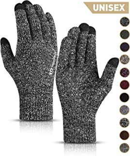 Winter Gloves for Men Women - Unisex Knit Touch Screen, Thermal Warm Lining