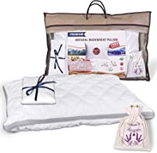 "Pillow Plant-Based Premium Organic Buckwheat Gift-Set (King 20"" X 30""), with Extra Pillowcase and Lavender Sachet, Organic, Quilted Cover, Beauty Sleep"