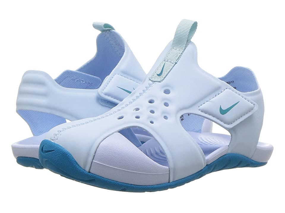 Nike Kids Sunray Protect 2 (Infant/Toddler) (Cobalt Tint/Neo Turquoise) Girls Shoes
