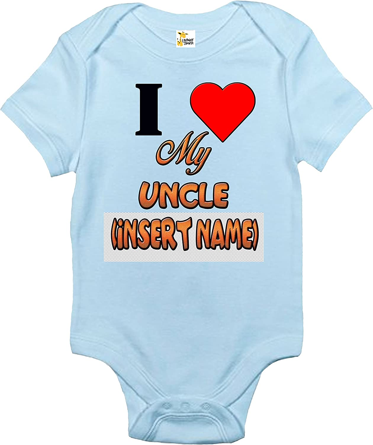 Custom Personalized Baby Max 53% OFF Bodysuit - I My Sale SALE% OFF One-piece Uncle Ba Love