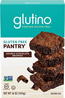 Glutino Gluten Free Pantry, Brownie Mix, Delightful Dessert, Double Chocolate, 16 Ounce