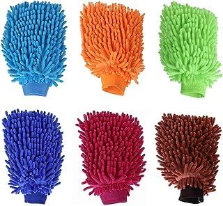 TsunNee 6 x Chenille Mikrofaser Auto Waschhandschuh, Auto Reinigungshandschuhe, ultraweiche Waschhandschuhe für Autoreinigung und Haushaltsreinigung.
