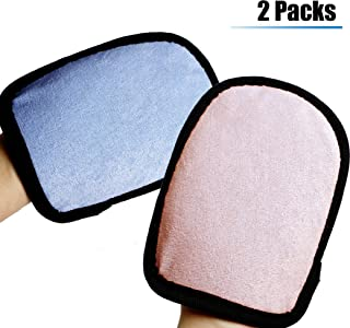 June-mall Beach Sand Cleaner Blue and Pink Sand Off Mitts Wipe Sand for Children and Adults 2 Packs