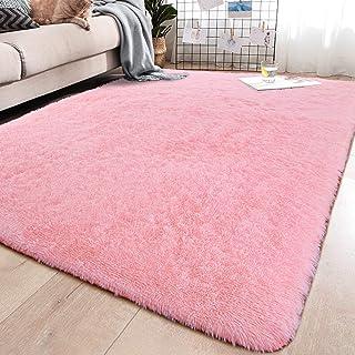 YJ.GWL Soft Shaggy Area Rugs for Bedroom Fluffy Living Room Rugs Anti-Skid Nursery Girls..