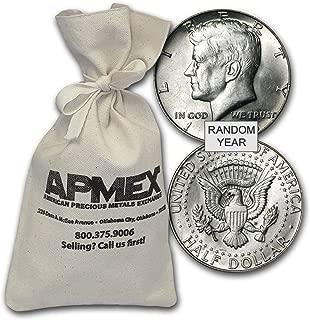 1965-1970 40% Silver Coins $100 Face Value Bag Avg Circ Silver Very Good