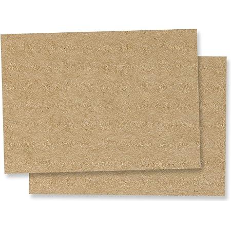 50 feuilles, A3 Papier Kraft Marron Cartonné, 200 g/m²