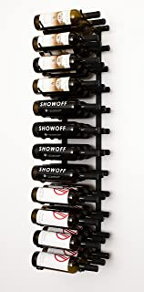 VintageView Wall Series- 36 Bottle Wall Mounted Wine Rack (Satin Black) Stylish Modern Wine Storage with Label Forward Design