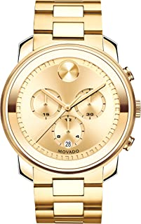Movado Men's BOLD Metals Chronograph Watch with a Printed Index Dial, Gold (Model 3600278)