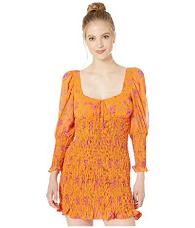 For Love and Lemons Peony Mini Dress (Tangerine) Women