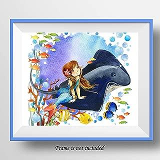 7Dots Art. Mermaid. Watercolor Art Print 8