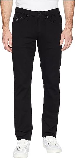 Slim Straight Jeans in Black