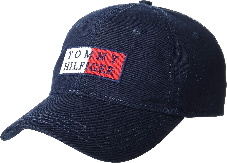 Tommy Hilfiger Men's Lazarus Baseball Cap, Sky Captain, OS