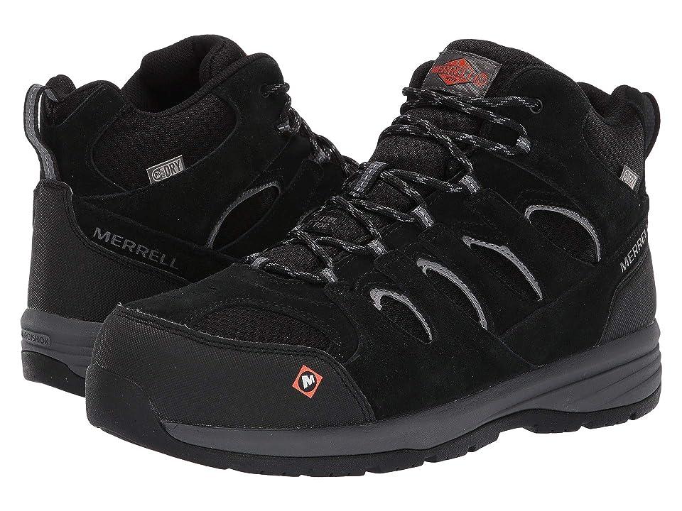 Merrell Work Windoc Mid Waterproof Steel Toe (Black) Men