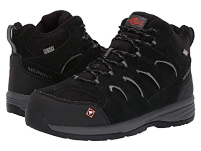 Merrell Work Windoc Mid Waterproof Steel Toe (Black) Men