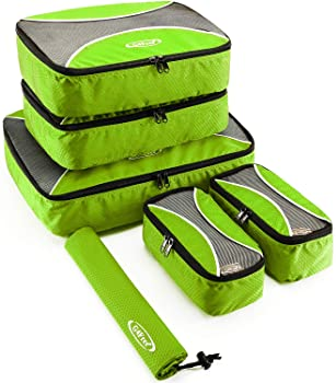 G4Free 4Pcs//6Pcs Set Packing Cubes Travel Luggage Packing Organizers with Laundry Bag