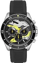 Michael Kors Men's Sport Stainless Steel Quartz Watch with Silicone Strap, Black, 22 (Model: MK8709)