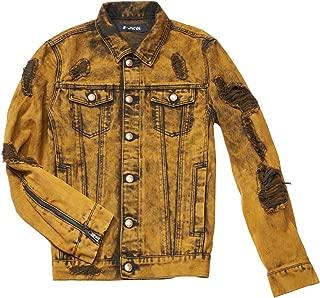 Men's Distressed Destroyed Trucker Denim Jacket
