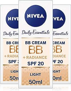 Nivea Diarios Esenciales BB Cream SPF 105en 1Beautifying Crema hidratante de Cara 50ml luz pack de 3