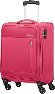 American Tourister Heat Wave - Spinner S Hand Luggage, 55 cm, 38 Litre, Pink (Magenta)