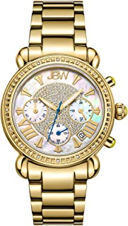 JBW Luxury Women's Victory 16 Diamonds Mother of Pearl Chronograph Watch - JB-6210-A
