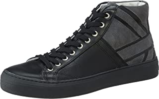 Salerno Leather and Suede High Top Design Lace-up Shoes for Men