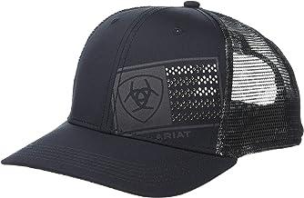 ARIAT Men's Offset Tonal Flag Logo Snapback Cap