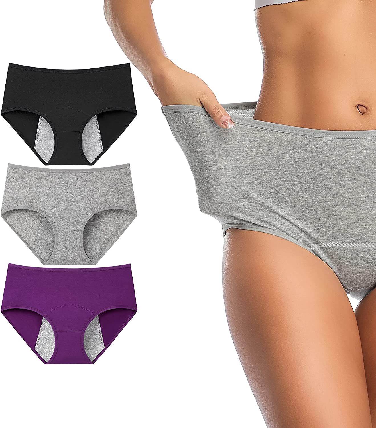Women's High Waisted Cotton NEW before selling Underwear fo Panties Breathable Super intense SALE Soft