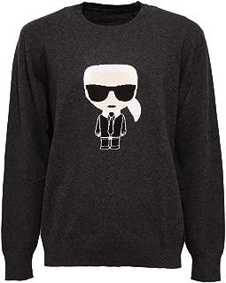 5470Z Maglione uomo Mix Wool Dark Grey Roundneck Sweater Man