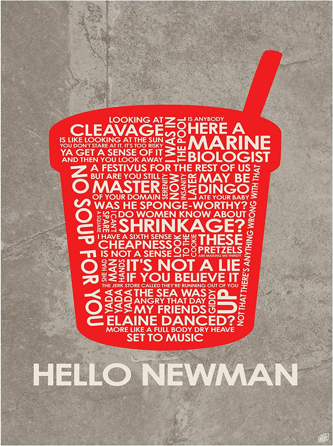 Hello Newman Giclee Art Print by from Typography Poster Max Max 75% OFF 52% OFF Drawing