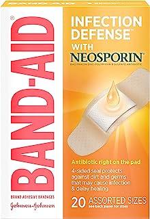 باندهای چسب ضد آب آنتی بیوتیک Band-Aid ، اندازه های متناسب ، 2 عدد