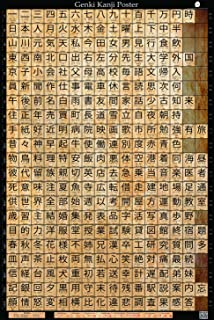Genki Kanji Poster Japanese Language Learning Poster (24