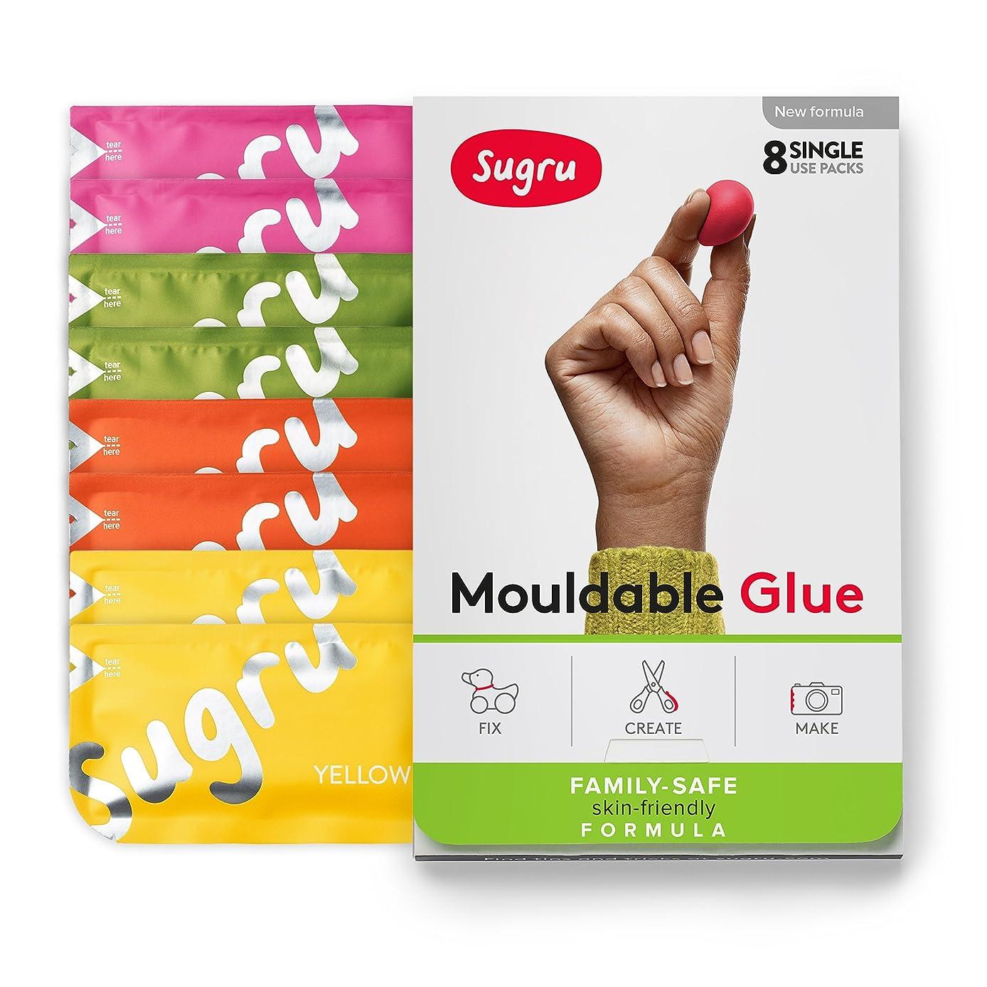 Sugru Moldable Glue - Family-safe | Skin-friendly Formula - Playful Colors 8-Pack