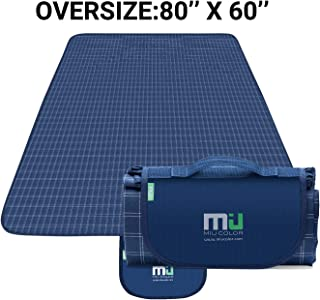 MIU COLOR Large Waterproof Outdoor Picnic Blanket, Sandproof and Waterproof Picnic Blanket Tote for Camping Hiking Grass Travelling