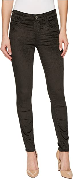 Velvet Ankle Skinny in Evergreen